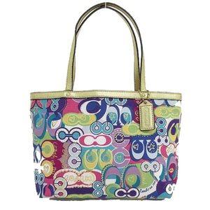 Coach | Poppy graffiti RARE signature tote bag